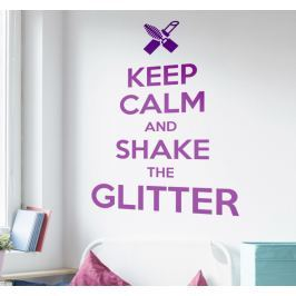 Sticker keep calm and shake glitter