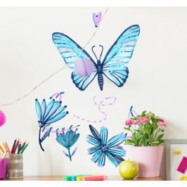 Sticker papillons couleur aquarelle