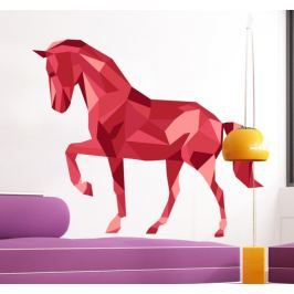 Sticker cheval rouge relief