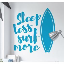 sticker sleep less surf more