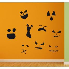 Sticker visages terreur Halloween